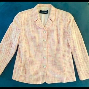 Vintage French Designer Blazer Jacket Pastel Chic